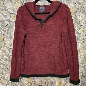 AE OUTFITTERS Men's Small Red Pullover Hoodie